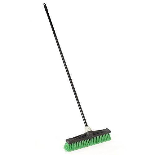 "O-Cedar Professional 18"" Multi-Surface Push Broom, Green"