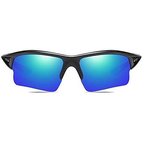 Yangmanini Ciclismo Deportivo Al Aire Libre Material for PC Gafas De Sol Marco Negro Gris/Azul Verde Lente Hombres Y Mujeres con Las Mismas Gafas De Sol Polarizadas Antirreflejos De Conducir
