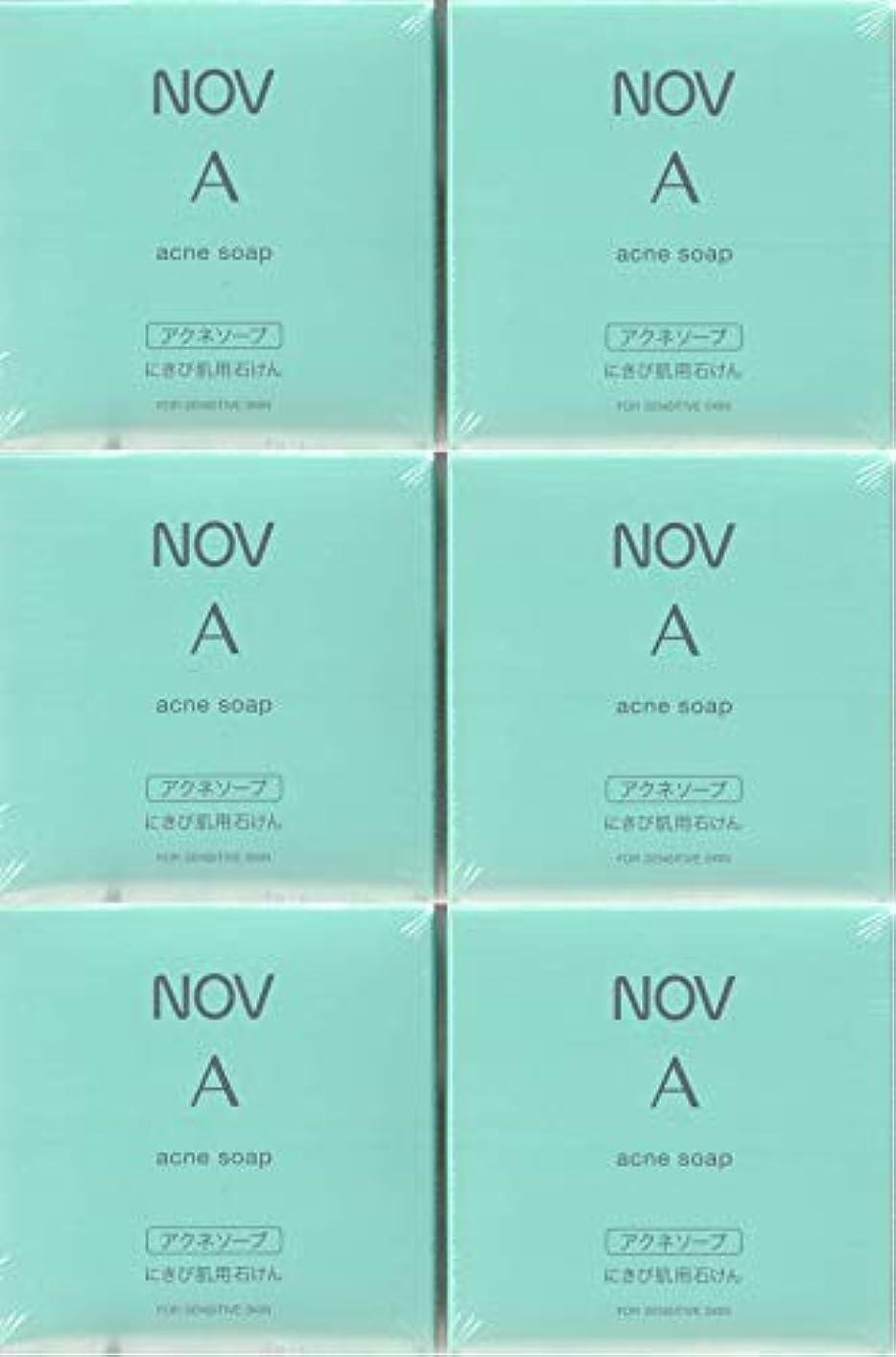 ナサニエル区引き渡すぴったりノブ A アクネソープ 70g×6箱セット <にきび肌用枠練石けん>