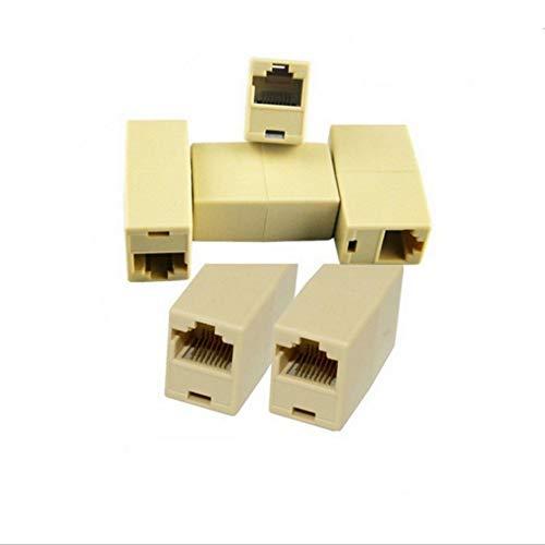 RJ45-netwerkkabelaansluiting netwerk ethernet LAN-kabel joiner koppeling