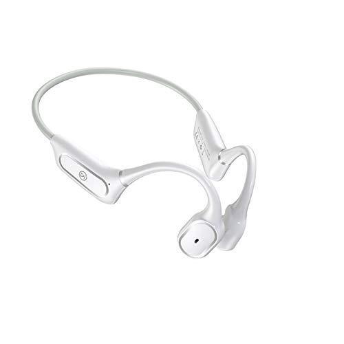 JFGUOYA Bluetooth Sports Headphones, Wireless Bone Conduction Sensor Air Conduction Sports Outdoor Headphones (Color : White)