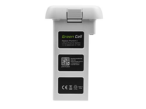 Green Cell® Batería para dji Phantom 2, Phantom 2 Vision+ (Li-Polymer High Performance 5200mAh 57.7Wh 11.1V Blanco)