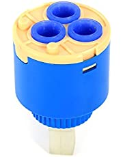 Keramische schijfcartridge, keramische vervangende watermengkraan Binnenbediening Keuken Waterval Kraanventiel PP kunststof blauw(35mm)