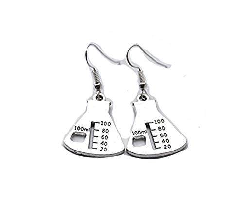 Beaker Earrings Science Earrings Microscope Jewelry Chemistry Earrings Scientist Earrings (Beaker earrings)