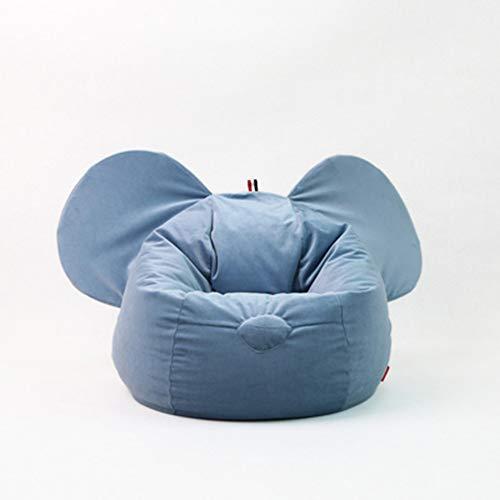 Bank GJDBBLY Kinderstoel Luie bank Zitzak Tatami Verwijderbaar meisje Jongensstoel Huis Binnen Zoals afgebeeld-2 Blauwe luie bank