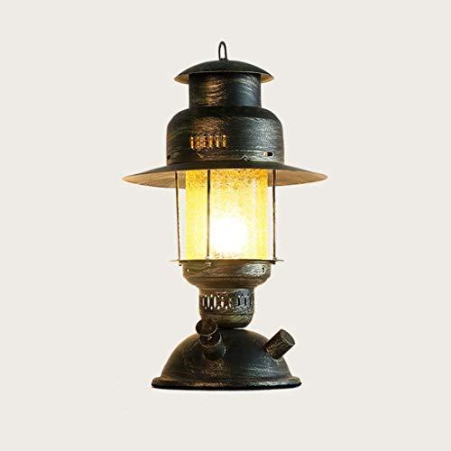 45 cm de sombra lámpara de cabecera del estilo europeo retro E27 Industrial Hierro lámpara de mesa de cristal amarillo sala de estar creativa bar decorado tabla del escritorio de la Luz -Lámpara de Me