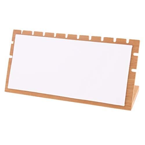 B Blesiya Soporte de Exhibición Estante Titular de Joyería Accesorios de Laboratorios Producto Comercial - Cuero Blanco