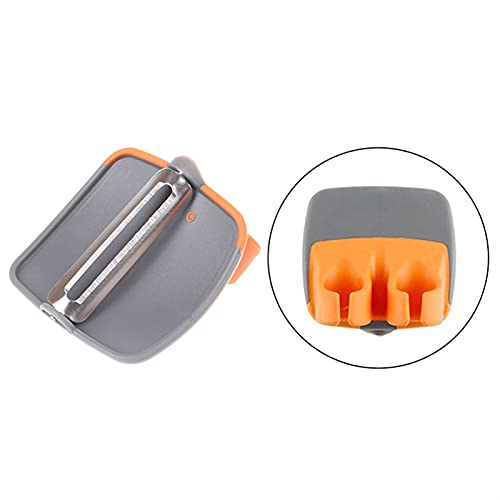 siqiwl Fruit and vegetable peeler Creative Fruit Peeler Double Finger Slicer Grater Vegetable Parer Cutter Cucumber Potato Tomato Zester Kitchen Tools (Color : Orange)