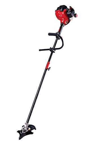 Craftsman WS235 2-Cycle 17-Inch Straight Shaft Gas Powered Brush Cutter and String Trimmer Handheld Weed Wacker with Attachment Capabilities for Lawn Care, Liberty Red