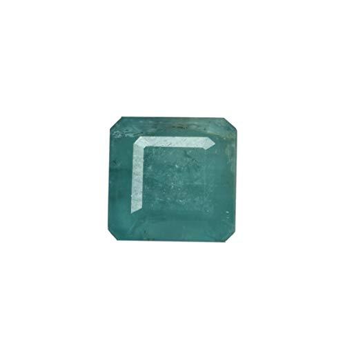Anello verde smeraldo naturale da 6,71 ct con smeraldo verde, smeraldo verde smeraldo taglio quadrato, pietra smeraldo certificata IGI