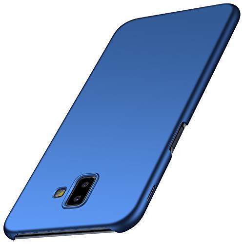 Anccer Funda para Samsung Galaxy J6 Plus [Serie Colorida] [Ultra-Delgado] [Ligera] Anti-rasguños Estuche para Galaxy J6 Plus (Azul Liso)