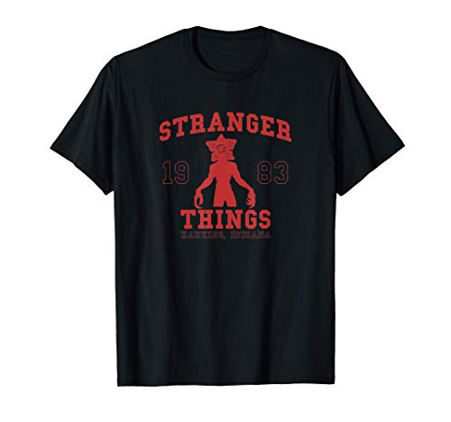 Stranger Things Demogorgon Collegiate 1983 Hawkins Indiana Camiseta