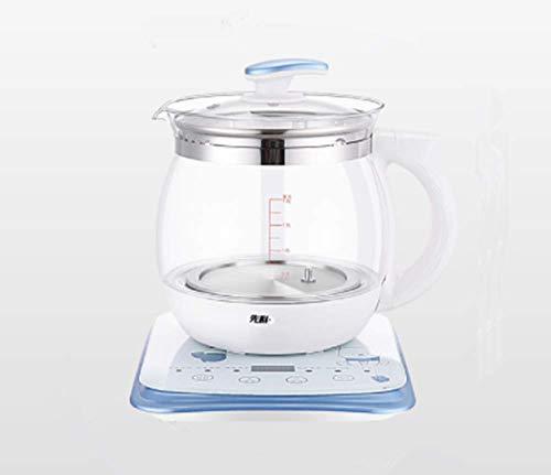 Luemdss Termostato ordeño Corteza hervidor de Vidrio Inteligente máquina de Leche en Polvo para bebés hervidor de Agua Caliente Base Aislante Mini Copa calefactora Base de Vidrio para