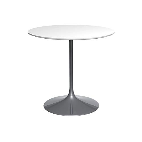 Gillmore Space Socle Moyen Table Dinante Blanc Brillant Et Noir