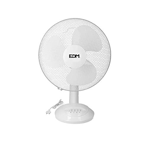 EDM 33964 Ventilador de Sobremesa 45W, Blanco, 40 cm