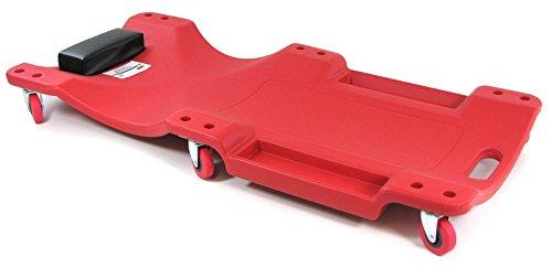 Carparts-Online 28809 Ramroxx Profi Werkstatt Rollbrett Montageliege mit Ablage 100cm rot schwarz