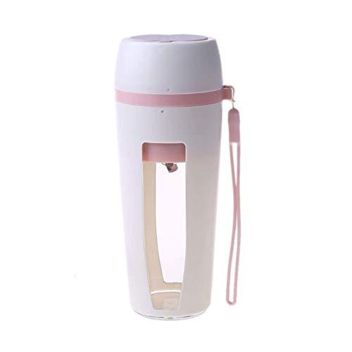 LIANGANAN Exprimidor eléctrico portátil rápido de 400 ml con taza recargable de 2 hojas licuadora de frutas zumo casero (color de color rosa) zhuang94 (color: blanco)