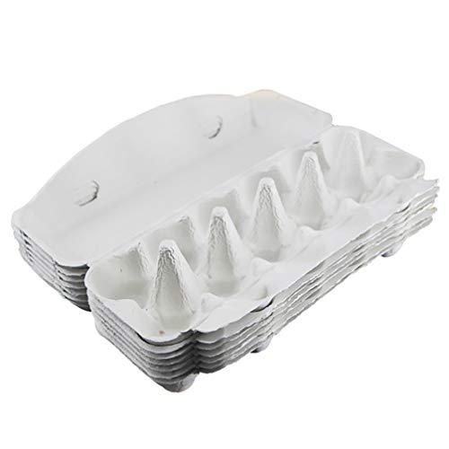 Hemoton Cartones de Huevos de Gallina Cartón de Huevos Biodegradable Soportes para Huevos de 12 Celdas Productos Frescos de La Granja Cartones de Huevos Vacíos Soporte de Bandeja de