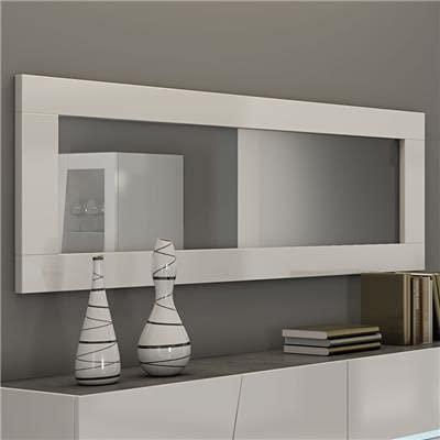 Kasalinea Miroir Blanc laqué Design Julia-L 180 x P 4 x H 57 cm- Blanc