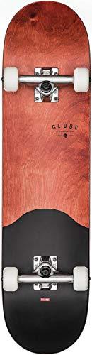Globe G1Argo Boxed Unisex Erwachsene Skateboard, Unisex – Erwachsene, 10525315, braun (Rot-Ahorn/schwarz), 7.75