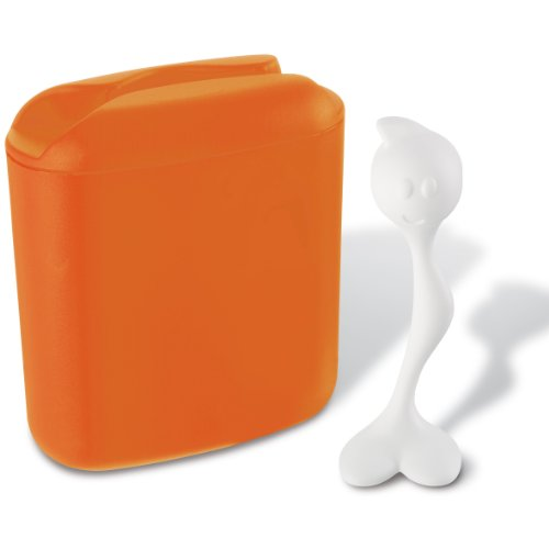 Koziol 3058521 Hot Stuff Kaffeedose, Plastik, orange, 20 x 8,5 x 17 cm