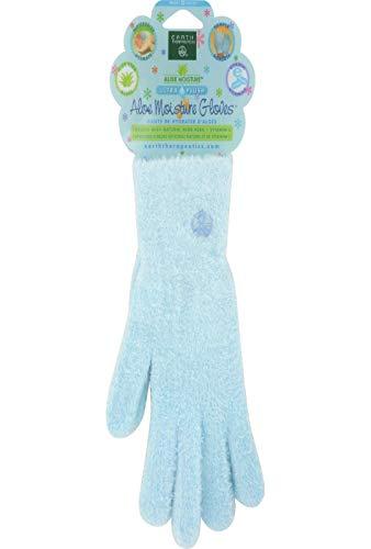 Earth Therapeutics Aloe Moisture Gloves, Ultra Plush Blue, 1 Pair by Earth Therapeutics