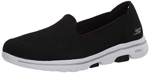 Skechers Women's GO Walk 5-Blessed Sneaker, Black/White, 10.5 Medium US