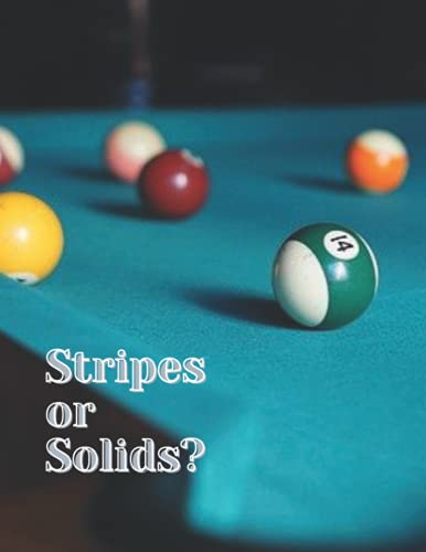 Stripes or Solids?: A Pool Themed Blank Lined Journal