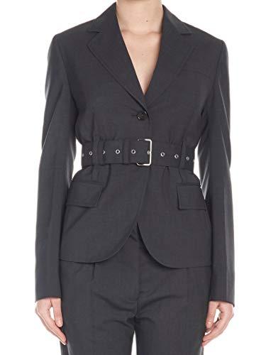 Prada Luxury Fashion Damen P581GHS191RO1F0480 Grau Wolle Blazer | Frühling Sommer 20
