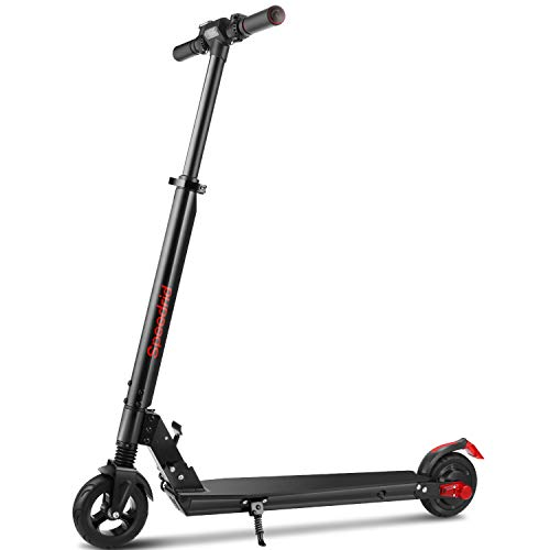 Speedrid Electric Scooter for Adults & Teens with 250W Motor, Lightweight E Scooter/Commuter Scooter only 17 lbs, with Top Speed 15.5 MPH, 3 Speed Modes