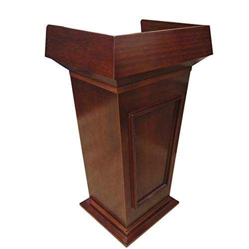 TnSok Stehendes Podium Holzpodium-Kanzel-Lektoren-Rezeption-Rezeption Heavy Duty Commercial Podium sprechen Schulkirche (Color : Brown, Size : 77x50x116cm)