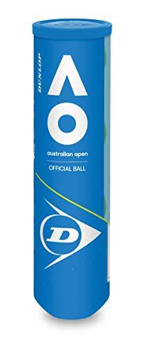 Dunlop - Palline da Tennis Australian Open per Tutte Le età, Taglia Unica, Colore: Giallo