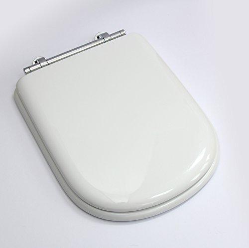 Sottini Genuine Reprise WC con copertura in bianco con cerniere cromate E563001