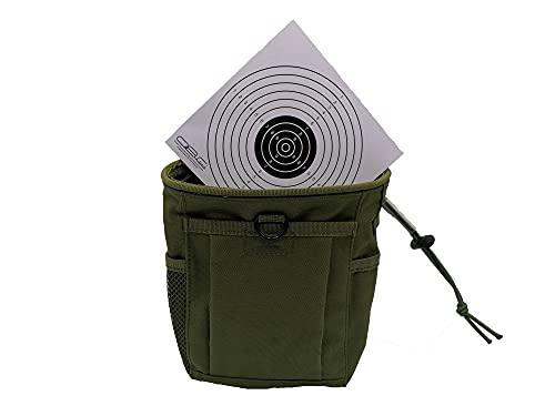 Glac Store Bolsillo táctico militar verde porta todos los cargadores Utility Softair caza de cinturón o chaleco y diana Target de cartón