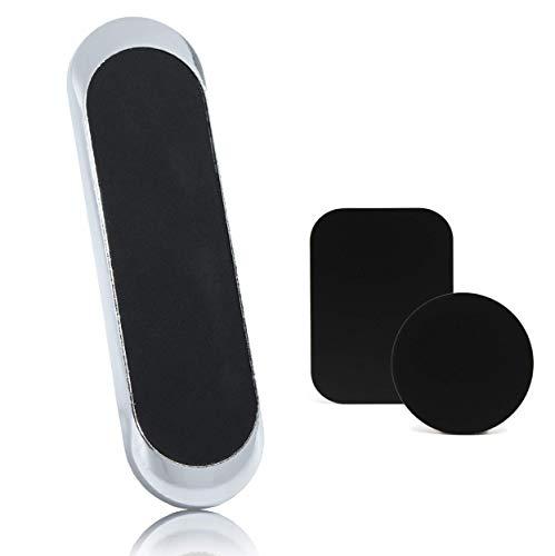 FLK Premium Magnetische Handyhalterung Auto und Zuhause I Plastik frei I Universal Mini Magnet Halter für alle Smartphones und Größen I Handyhalterung Magnethalterung