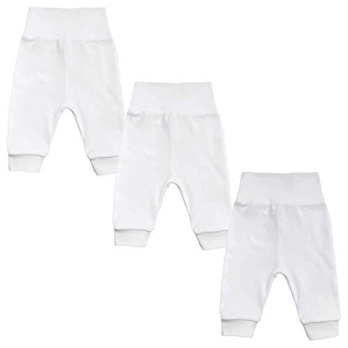 MEA BABY Unisex Baby Hose aus 100% Bio-Baumwolle im 3er Pack/Pumphose. Babyhose für Jungen Baby Hose für Mädchen, Schlupfhose (68)