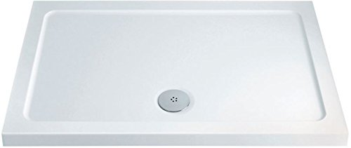 Eacon Low Profile White Stone Resin Acrylic Capped Rectangle Shower Tray Premium Quality 1600 x 700