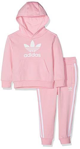 adidas Trefoil Hoodie Set, Tuta Unisex Bimbi, Light Pink/Bianco, 3-4A