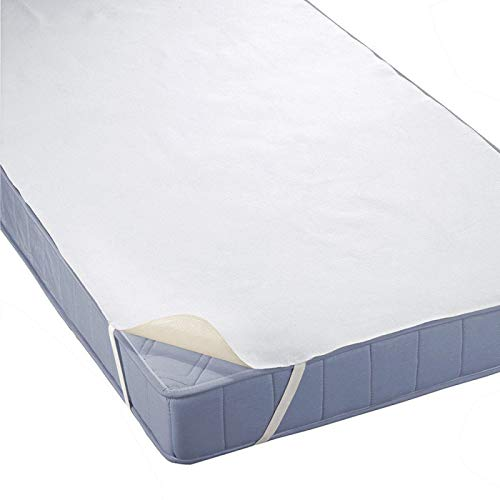 haiba Bedding Waterproof Mattress Protector - Breathable Cotton Top Mattress Cover with Elastic Corner non-slip fixed Straps (180 x 200 cm)