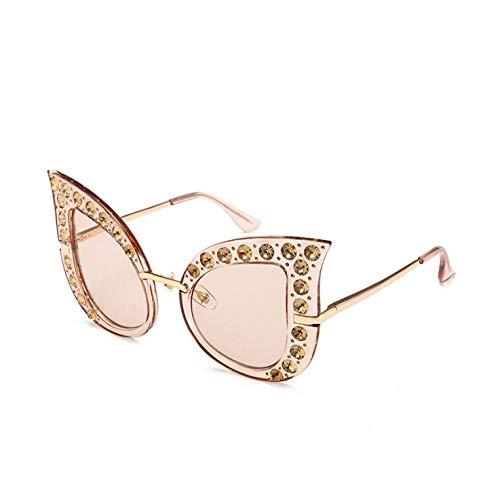 ZZZXX Gafas De Sol BaratasGafas De Ojo De Gato Con Diseño De Diamantes Gafas De Sol Hd Antireflectantes Para Hombre Y Mujer,Con Caja De Regalo Y Paño Para Vasos