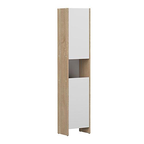 TemaHome Colonne, Panneaux de Particules/Melamines, Chêne Naturel, 38,2 x 28 x 180 cm