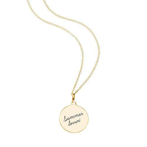 SO COSI Collar con colgante Summer Lovin de plata de ley 925 chapada en oro