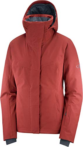 Salomon Damen Ski-Jacke, SPEED JACKET W, Polyamid/Polyester/Elasthan, Rot (Red Dahlia), Größe: S, LC1380200