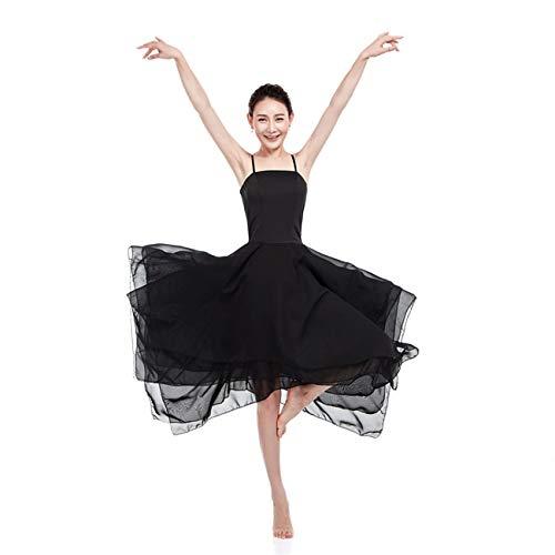 Lionel Philip Frauen Ballett Kleid Performance Dance Kostüm Dance Kleid Für Mädchen Ballett Tutu Dancewear Trikotanzug Schwarz 165-170Cm