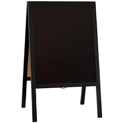kaufdeinschild Aufsteller schwarz 60 x 100 cm Kreidetafel Kundenstopper Holzaufsteller beidseitig Holz