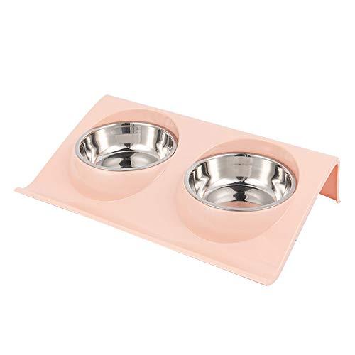 RYDRQF Hond RVS Kom, Afzonderlijk Type Eenvoudig te reinigen Hond Voedsel en Drinkschaal, RVS Afneembare Kleine Kat en Hond Schaal, Blauw, Groen, Roze