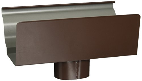 AMERIMAX HOME PRODUCTS 2501019 5-Inch Aluminum End/Drop, Brown by Amerimax Home Products