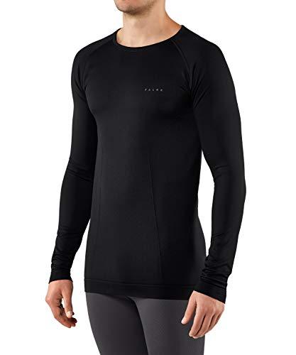 FALKE Arctic Brushed, Couche De Base Manches Longues Homme, Sous-Vêtement Thermique Chaud, Noir (Black 3000), XXL, 1 Pièce