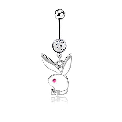 Anillo en el Ombligo 1 / 2pc Bunny Body Button Ring 14g Lindo Fox Belly Ring Bunny Sexy Ombligo Piercing Quirúrgico Acero Conejo Barly Bar P Circing para Mujeres