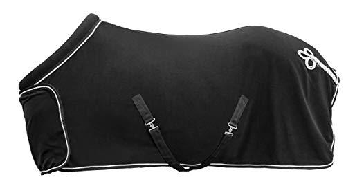 HKM Fleecedecke mit Kragen, schwarz, 155